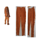 Men's New Native American Golden Brown Buckskin Suede Leather Fringes Pa... - $70.39+