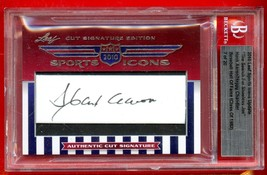 2010 Leaf Sports Icons AUTOs Hank Aaron Happy Chandler Cut Signature BGS... - $247.50