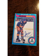 1979-80 OPC SIGNED AUTO CARD RON CHIEF DELORME COLORADO ROCKIES CANUCKS ... - $74.99