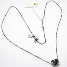 Silver Necklace 925, Tube Angel, Zircon Black, Roberto Giannotti, Man image 2