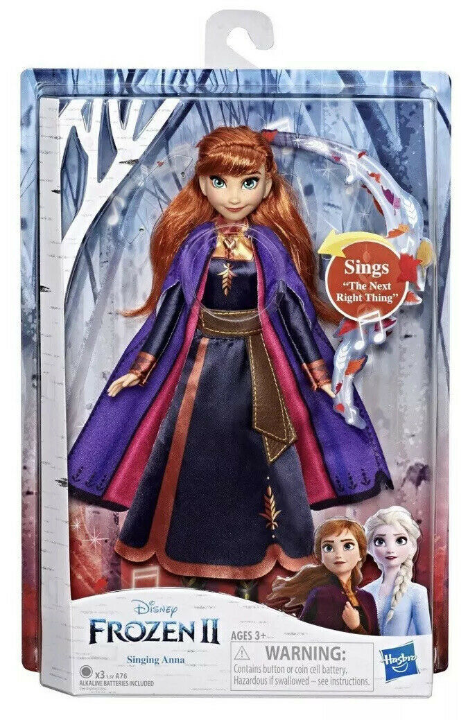 Primary image for Disney Frozen 2 Singing Anna Fashion Doll  Wearing Purple Dress Hasbro