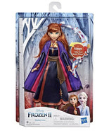 Disney Frozen 2 Singing Anna Fashion Doll  Wearing Purple Dress Hasbro - $69.00