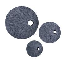 "1"" x 16"" x 16"" Gray Sandstone, Ribbed Round, Top Hole - Wall Decor - $104.15"