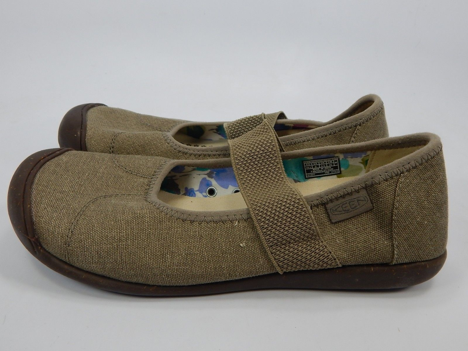 Keen Sienna Mary Jane Size: 9 M (B) EU 39.5 Women's Canvas Shoe Brindle 1014217