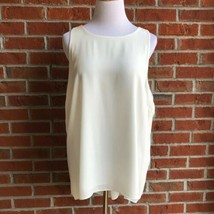 Vince Camuto High Low Pleated Back Sleeveless Top - Size L - $16.48