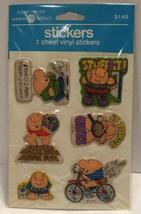 Vintage Alien Puffy Stickers Googly Eyes American Greetings 1982 Sealed NIP