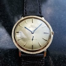 LECOULTRE Men's 14K Solid Gold Manual Hand-Wind Dress Watch, c.1960s Swi... - $2,293.24