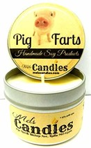 Pig Farts (Smells Like Bacon Bits) 4 oz All Natural Handmade Soy Candle Tin - $9.87