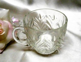 1931 Antique Jeannette Glass Feather Punch Cup - $5.00