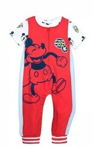 Mickey Mouse And Donald Duck Dungaree Set For Boys 12-18M Disney Store New Red - $25.73