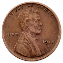 1915-S 1C Lincoln Cent in XF Condition, Brown Color, Nice Detail for Grade - $69.29
