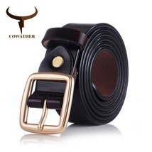COWATHER 2016 women belts cow genuine leather pin buckle for women newes... - ₨4,288.06 INR