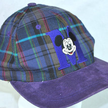 Mickey Mouse M Plaid Vtg Baseball Cap Hat Sueded Brim Goofy Hat Co Disne... - $28.90