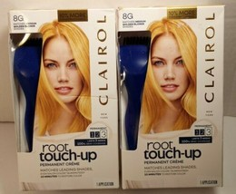 (2) Packs Clairol Root Touch-Up Permanent Hair Color 8G Medium Golden Blonde - $18.80