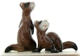 Hagen Renaker Wildlife Ferret Friends Ceramic Figurine Set image 1
