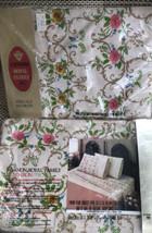 Vintage Cannon Royal Family Percale Floral  Twin Sheet Fitted And Flat B... - $48.99