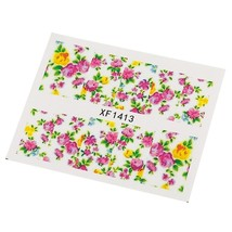 10pcs Flower Nail Decals Art Water Transfer Stickers(#13) - $7.25