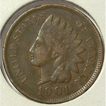 1901 Indian Head Cent Partial Liberty VG10 #0548  - $1.99
