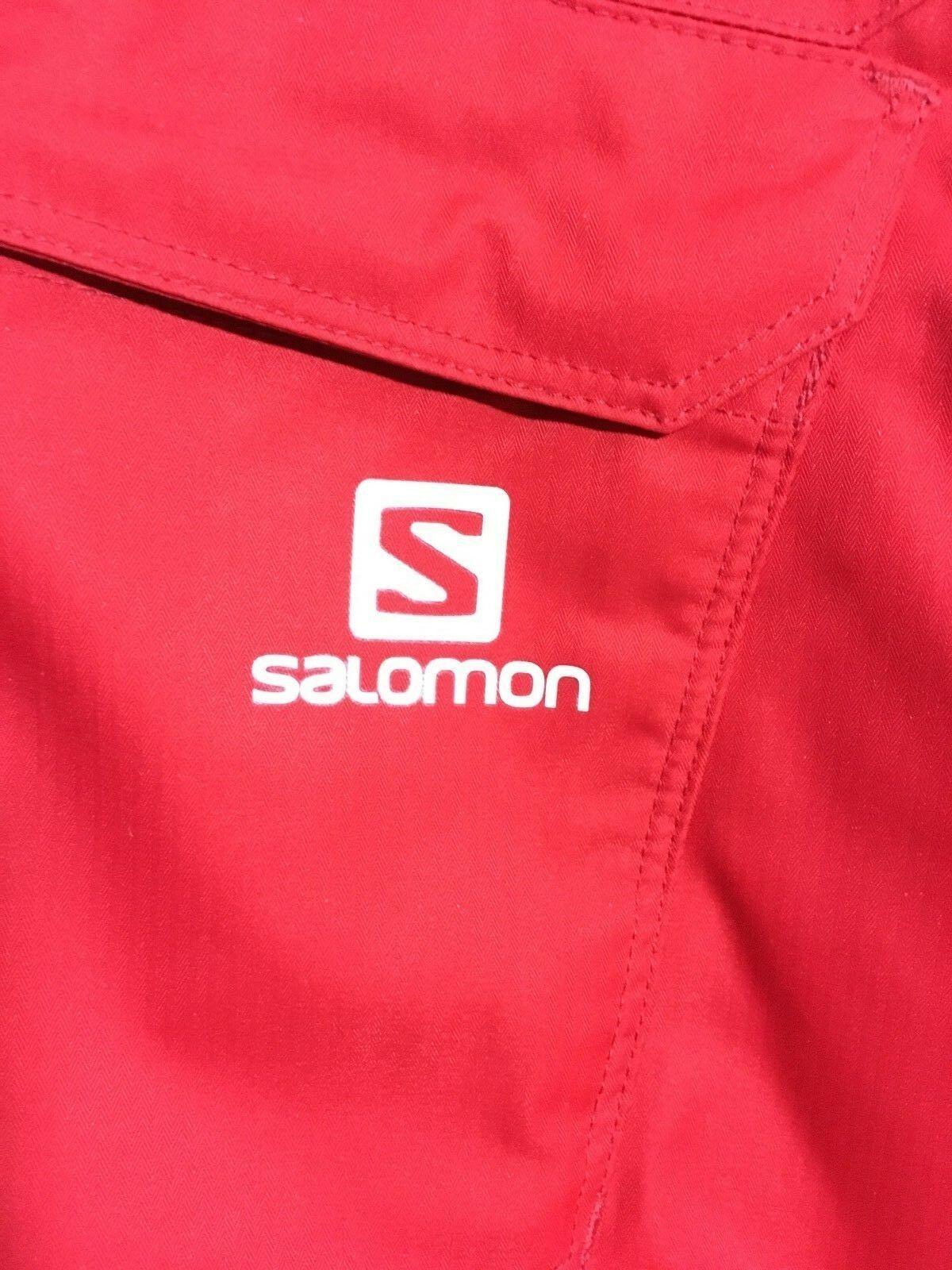 Salomon Response Ski Snowboard Pants Unisex, Size XS or S, Red, NEW image 9