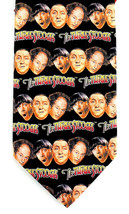 The 3 Three Stooges Mens Neck Tie Moe Larry Curly Novelty Comedy Black N... - $24.75