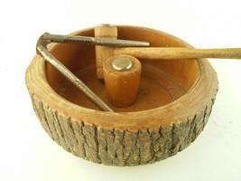 Vintage Wooden Nutcracker Bowl Tools Wood Hammer - $30.71