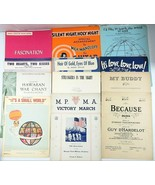 Lot of 14 Antique Vintage Song Sheet Music - $29.99