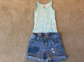 Old Navy Tank Top( X -Small 5) & Cherokee Denim Shorts M 7/8 - $6.99