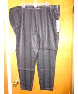 Jennifer Lopez Black Foil Snakeskin Leggings 24W Stretch Comfort 73277  - $27.99