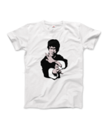 Bruce Lee Doing his Famous Kung Fu Pose Artwork T-Shirt - $21.78+