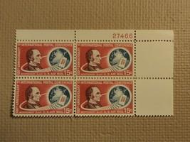USPS Scott C66 15c International Postal Conference 1963 Plate Block Mint NH - $8.16
