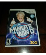 Minute to Win It Nintendo Wii EX **Inv02892** - $8.90