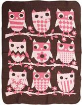 green 3 Jr. Blanket - Pink Owls - $31.79