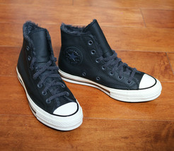 Converse Womens Chuck 70 Hi Cozy Club Leather 569516C Black/Egret Multi ... - $54.98
