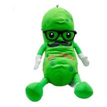 Fiesta Mr. Pickle Green Plush Stuffed Mustache Glasses Sneakers Cucumber... - $18.80