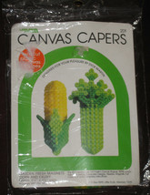 CORN CELERY Canvas Capers Kit Plastic 1980 Still Sealed Leisure Arts Vin... - $14.84