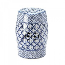 Blue And White Ceramic Decorative Stool - $88.57