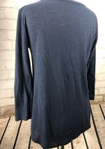 Lucky Brand Top T-Shirt Women's S Loose Fit Lightweight Linen Cotton Knit Flower image 4