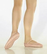 So Danca BAE90L Women's Size 7M (fits 9) Pink Leather Full Sole Ballet S... - $18.99