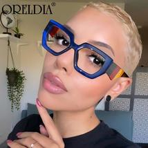 Fashion Polygonal Glasses Frame Women European And American Three-Color Frame Fl image 1
