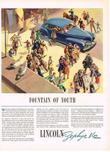 Vintage 1941 Magazine Ad Lincoln Zephyr Different Design Motor & Construction - $5.93