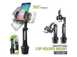 Extended Adjustable Vehicle Cup Holder Cell Phone Mount for Samsung Gala... - $24.79