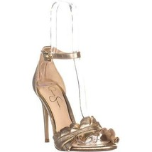 Jessica Simpson Silea Ankle Strap Sandals, Gold, 10 US - $37.43