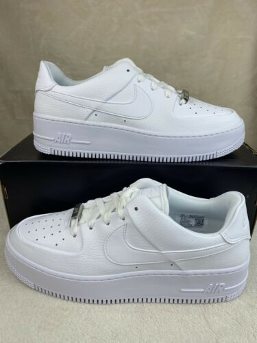 Primary image for Women's Nike Air Force 1 Sage Low White/White-White AR5339-100 Size 10.5