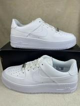 Women's Nike Air Force 1 Sage Low White/White-White AR5339-100 Size 10.5 - $113.80