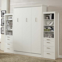 Athena Queen Wall Bed with 2 Storage Cabinets - £2,582.78 GBP