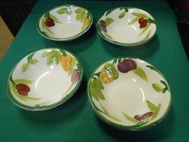 "Great Franciscan ""F Resh F Ruit"" S Et Of 4 Berry Bowls #197 6"" - $22.36"