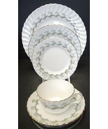 Five Piece Place Setting Minton China - Ermine Pattern - $18.61