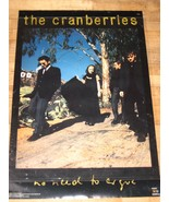 """The Cranberries No Need to Argue poster """"Hollywood sign"""" 1995 Dolores O'... - $19.94"""
