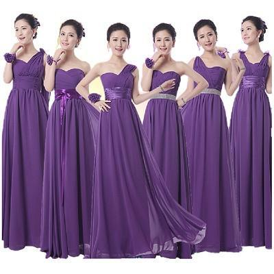 purple bridesmaid dress,long bridesmaid dress,mismatched bridesmaid dresses
