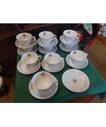Beautiful  ROYAL SWIRL Fine China ...Set of 10 CUPS & SAUCERS & 1 FREE S... - $48.22
